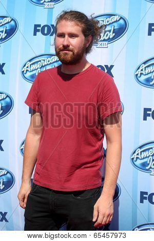 LOS ANGELES - MAY 21:  Casey Abrams at the American Idol Season 13 Finale at Nokia Theater at LA Live on May 21, 2014 in Los Angeles, CA