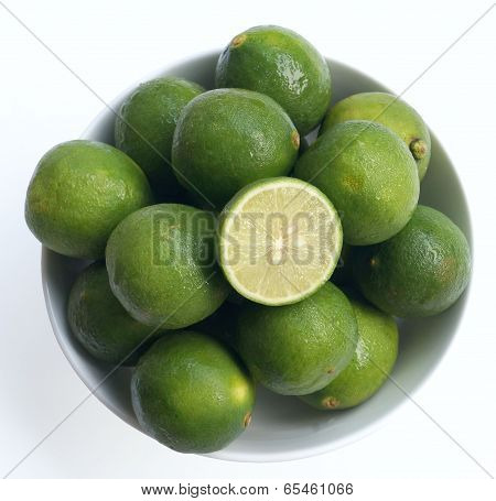 Limes in a round bowl