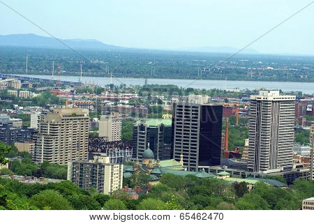 Aerial view of Montreal city,Quebec,Canada