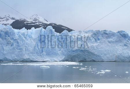Patagonian Landscape With Glacier And Lake