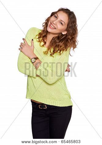 young smilimg woman