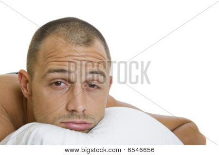 Man Trying To Sleep