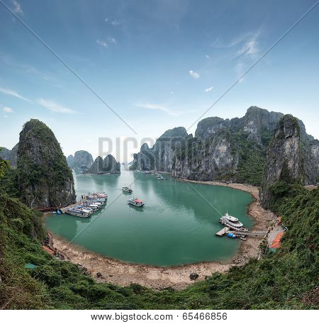 Halong Bay Vietnam. Ha Long Bay panoramic view