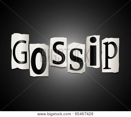 Gossip Concept.