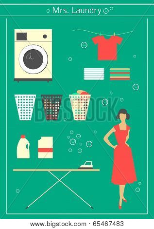 Retro Laundry Set