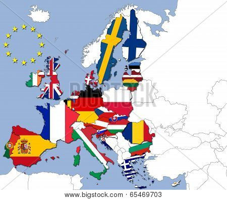 The 28 Countries Of The European Union