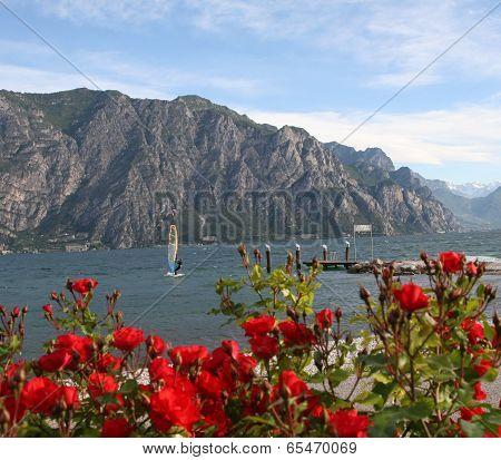 Windsurfing on Lake Garda