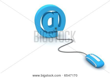 Browse At E-mail - Blue Mouse