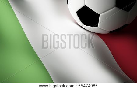 Italian flag, football