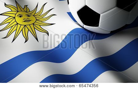 Uruguayan flag, football