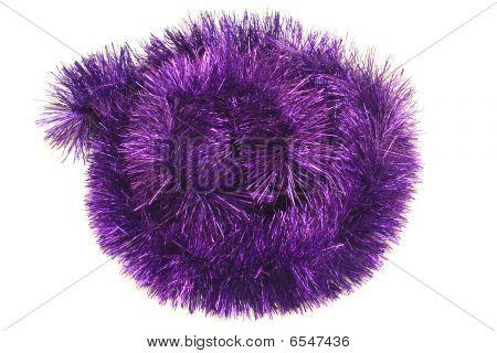Círculo de oropel violeta