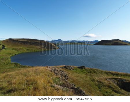 Pseudo-craters At Lake Myvatn, Iceland