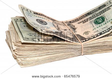 Stack Of Usa Currency