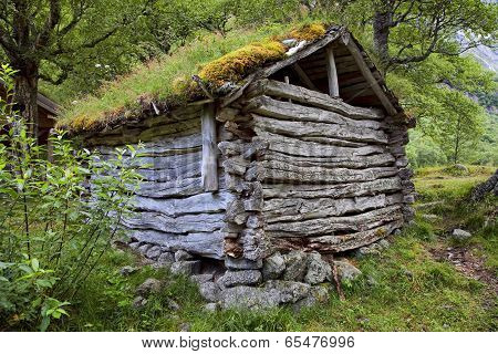 Abandoned Farm Near Briksdal Glacier