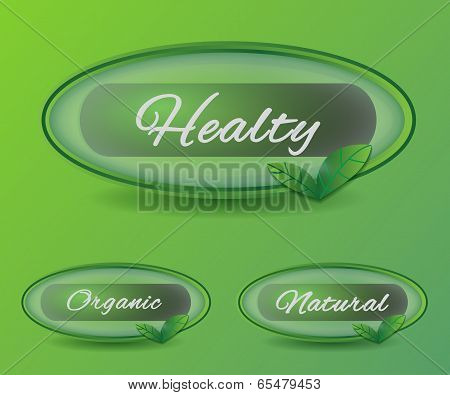 round bio natural icons buttons