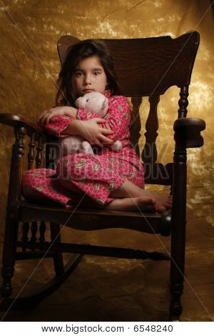 Girl And Her Teddy