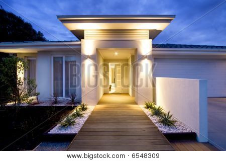 Contemporary grand entrance