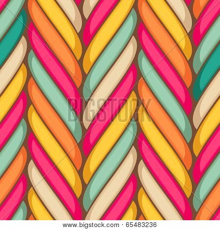 Marshmallow twist sweet seamless pattern