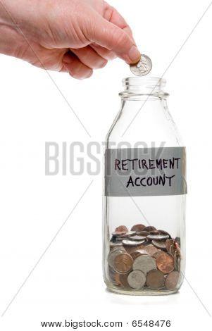 Conta de aposentadoria