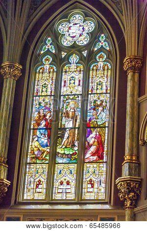 Inside Of Church St. John The Baptist In Savannah
