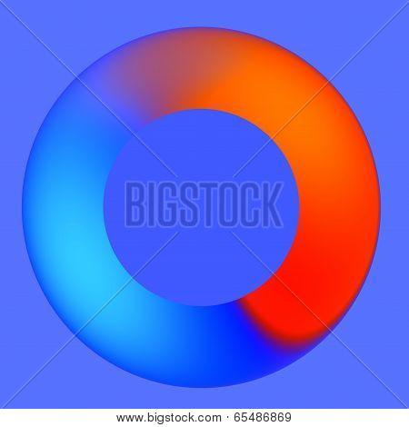 Blue Red Spinner