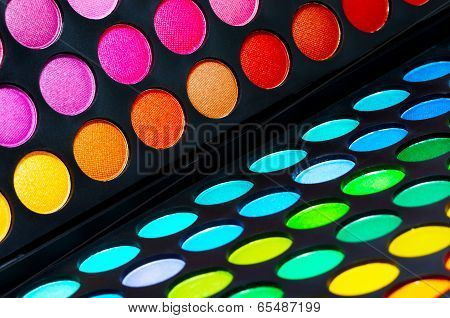 Colorful eye shadows palette