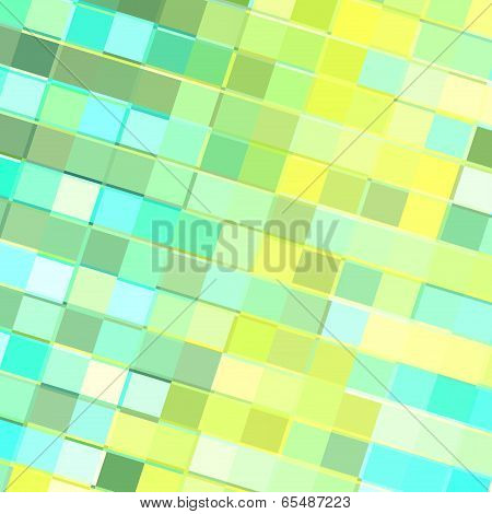 Turquoise Yellow Tiles