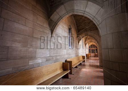 Benches Along The Corridor.