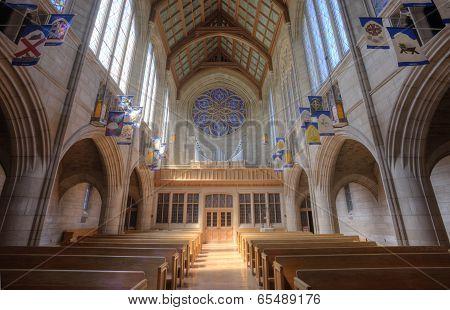 Inside St Johns Church.