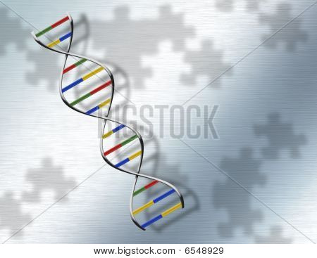 Puzzle Dna On Steel