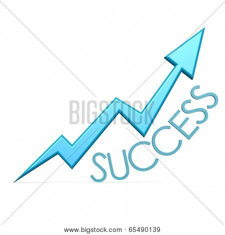 Blue Success Arrow