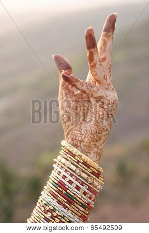 Beautiful Hands Of An India Bride