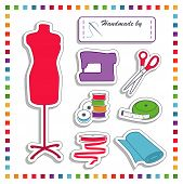 picture of tailoring  - Fashion Stickers for DIY sewing and tailoring with mannequin - JPG