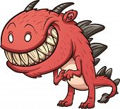 pic of monsters  - Smiling cartoon monster - JPG