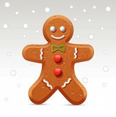 image of gingerbread man  - Professional icon  for your website or application - JPG