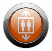 foto of elevator icon  - Icon Button Pictogram Image Illustration with Elevator symbol - JPG