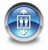image of elevator icon  - Icon Button Pictogram Image Illustration with Elevator symbol - JPG