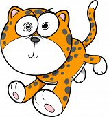 picture of insane  - Crazy Insane Leopard Vector Illustration - JPG