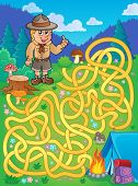 picture of boy scout  - Maze 1 with scout boy  - JPG