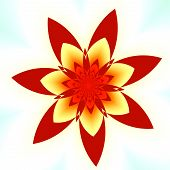stock photo of fancy mouse  - Abstract Red Fractal Flower  - JPG
