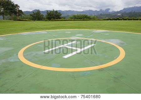 Heliport For Helicopter