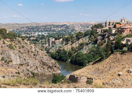 River Tagus In Toledo, Spain