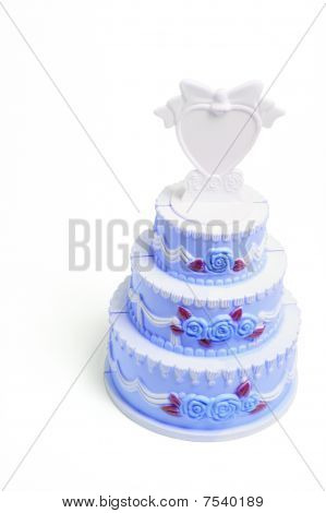 Miniature Wedding Cake Figurine