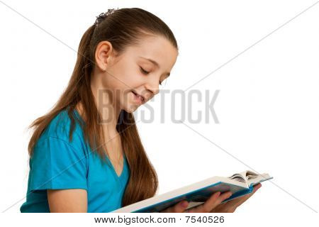 Smiling Reading Girl