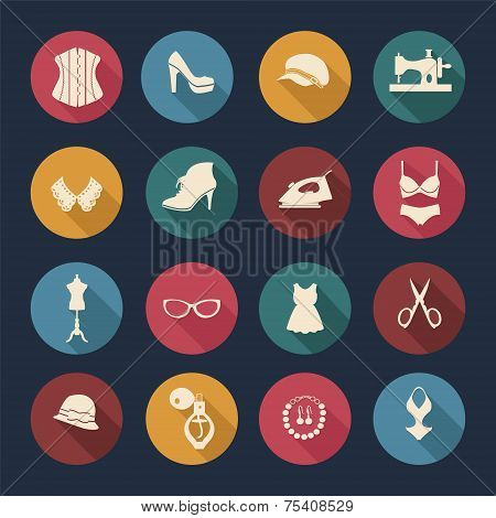 Fashion And Women Accessories, Icons - Illustration