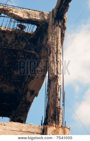 Destroyed Building, Debris.
