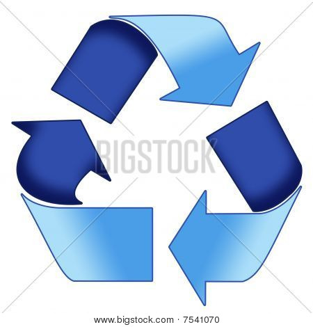 Blue Recycle Symbol