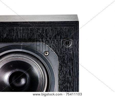 The black hi-fi sound speakers