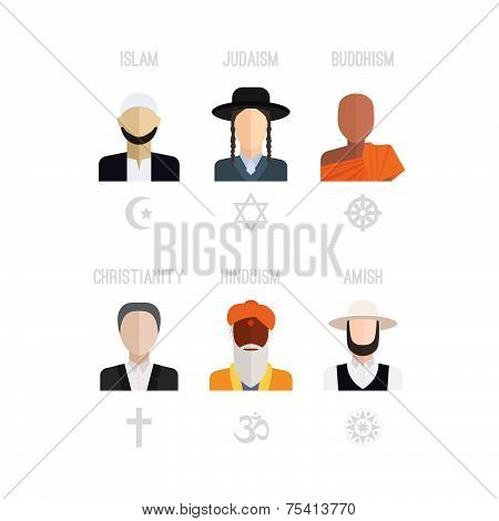 Religion People Icons