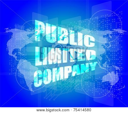 Public Limited Company On Digital Touch Screen